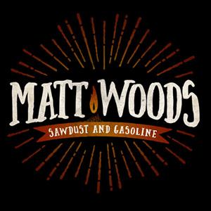 Matt Woods -Sawdust & Gasoline, omslag