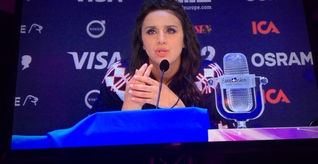 Jamala/Ukraina på presskonferensen