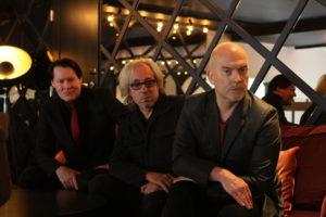 Christer Hellman, Richard Barbieri och Johan Kinde i Stockholm 2017. Foto: Ernst Adamsson Borg.