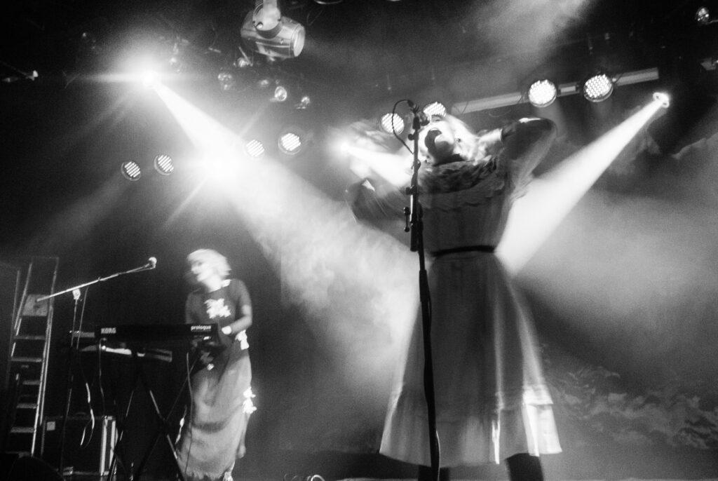 Kælan Mikla live på Musikens Hus. Foto: Anna Hulth.